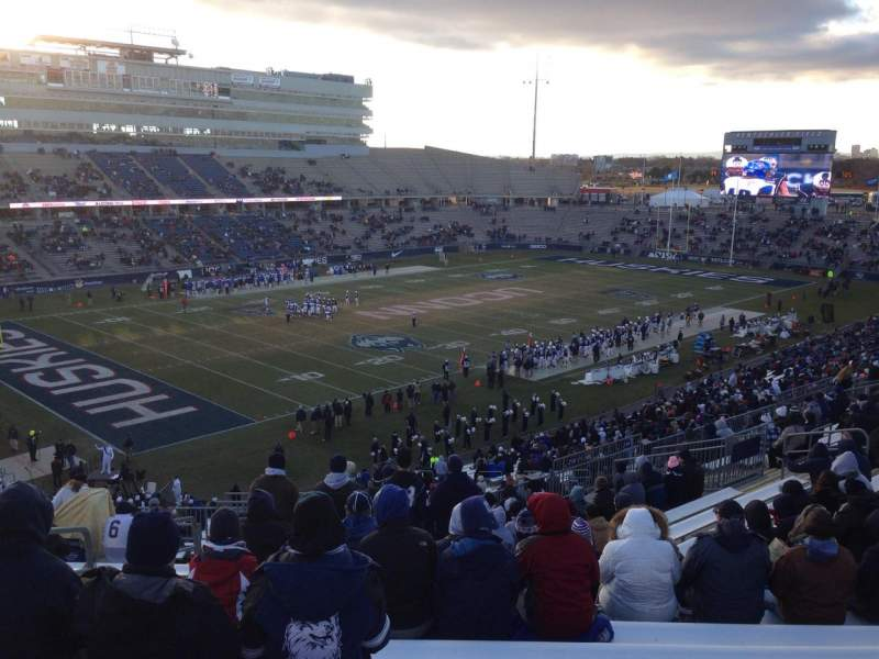 Seating view for Rentschler Field Section 218 Row 17 Seat 13