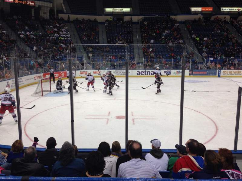 Seating view for XL Center Section 106 Row D Seat 5
