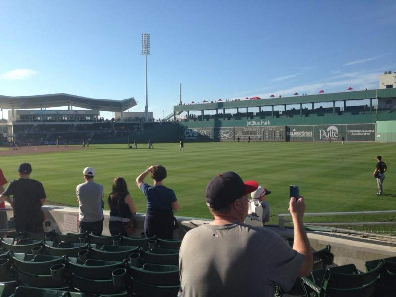 Seating view for JetBlue Park Section 119 Row 10 Seat 10