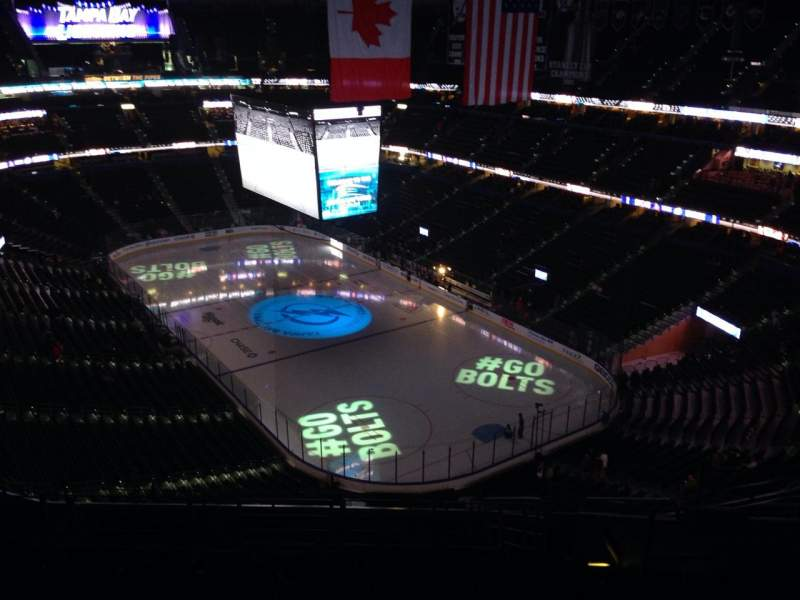 Seating view for Amalie Arena Section 311 Row N Seat 8
