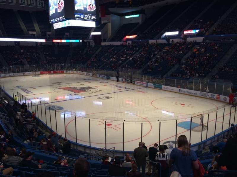 Seating view for XL Center Section 124 Row U Seat 2