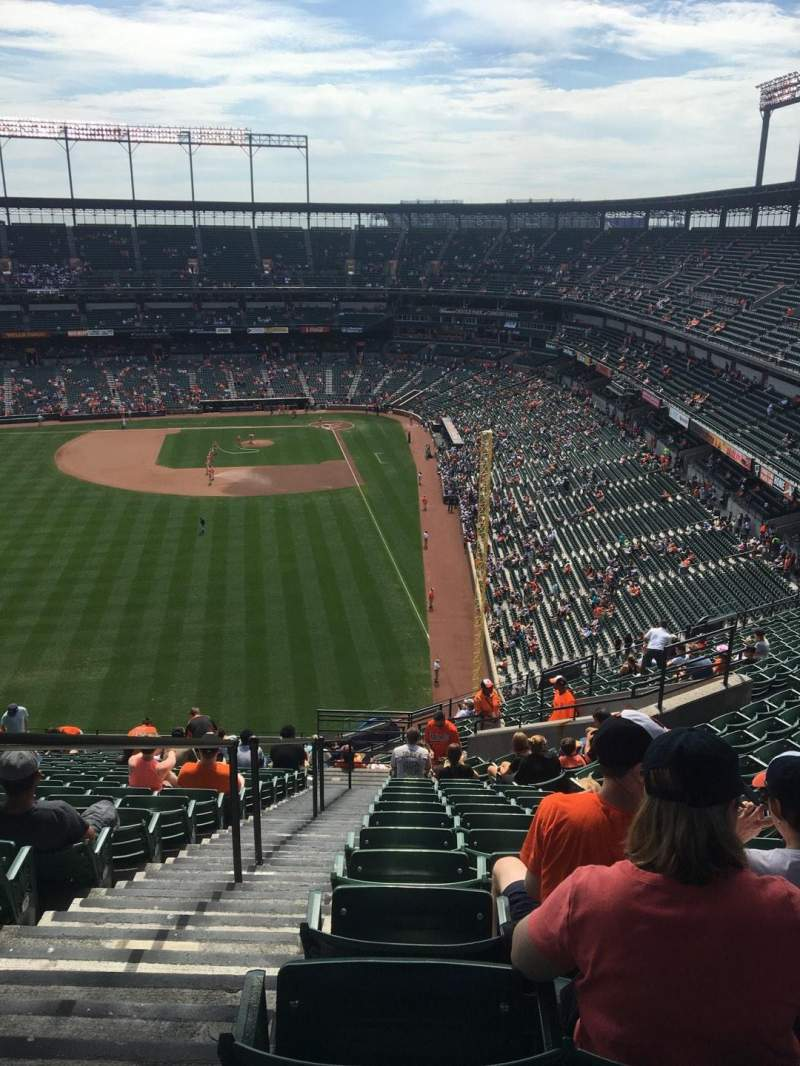 Seating view for Oriole Park at Camden Yards Section 381 Row 22 Seat 19