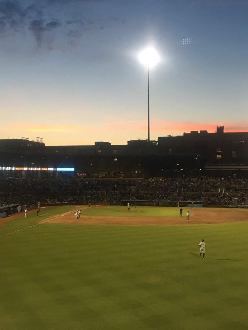 Seating view for Durham Bulls Athletic Park Section 128 Row S Seat 6
