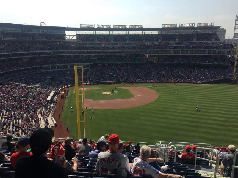 Seating view for Nationals Park Section 234 Row V Seat 3