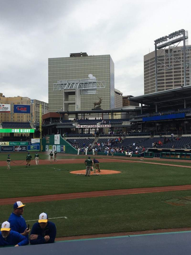Seating view for Dunkin' Donuts Park Section 116 Row H Seat 1
