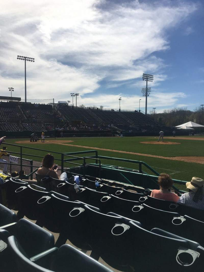 Seating view for New Britain Stadium Section 103 Row E Seat 13
