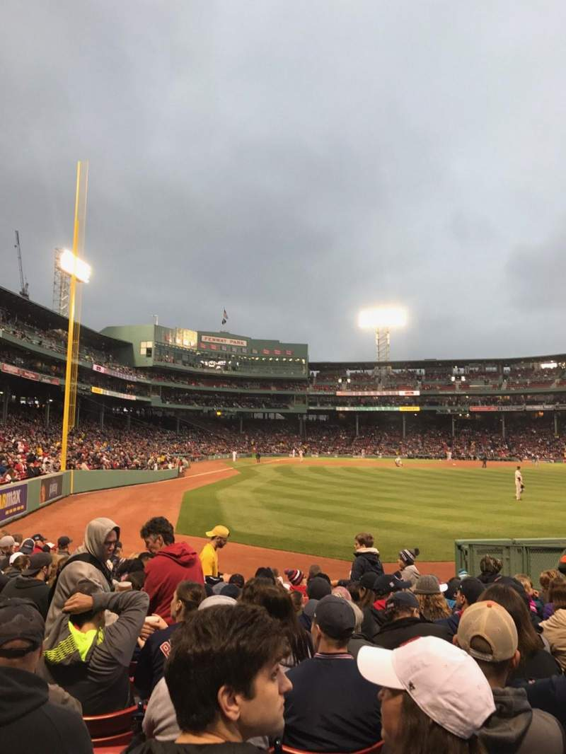 Seating view for Fenway Park Section Right Field Box 1 Row M Seat 13