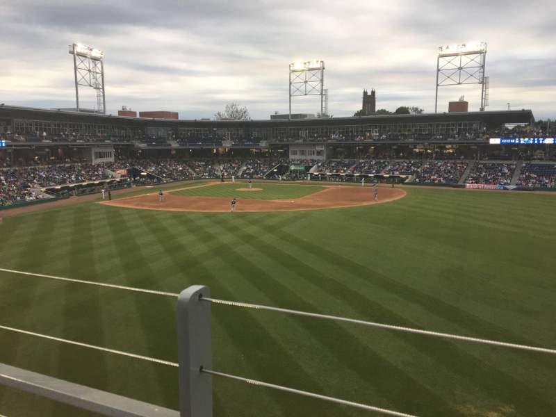 Seating view for Dunkin' Donuts Park Section 226 Row A Seat 9