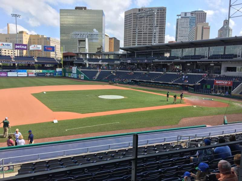 Seating view for Dunkin' Donuts Park Section 116 Row S Seat 6