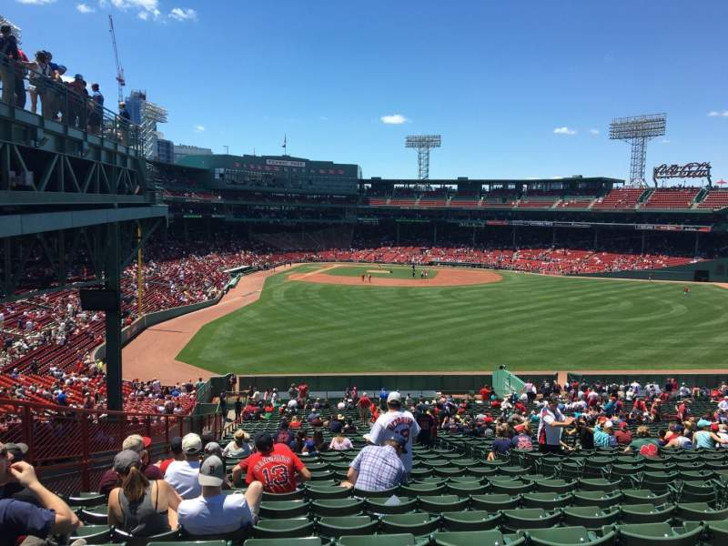 Seating view for Fenway Park Section Bleacher 43 Row 50 Seat 10