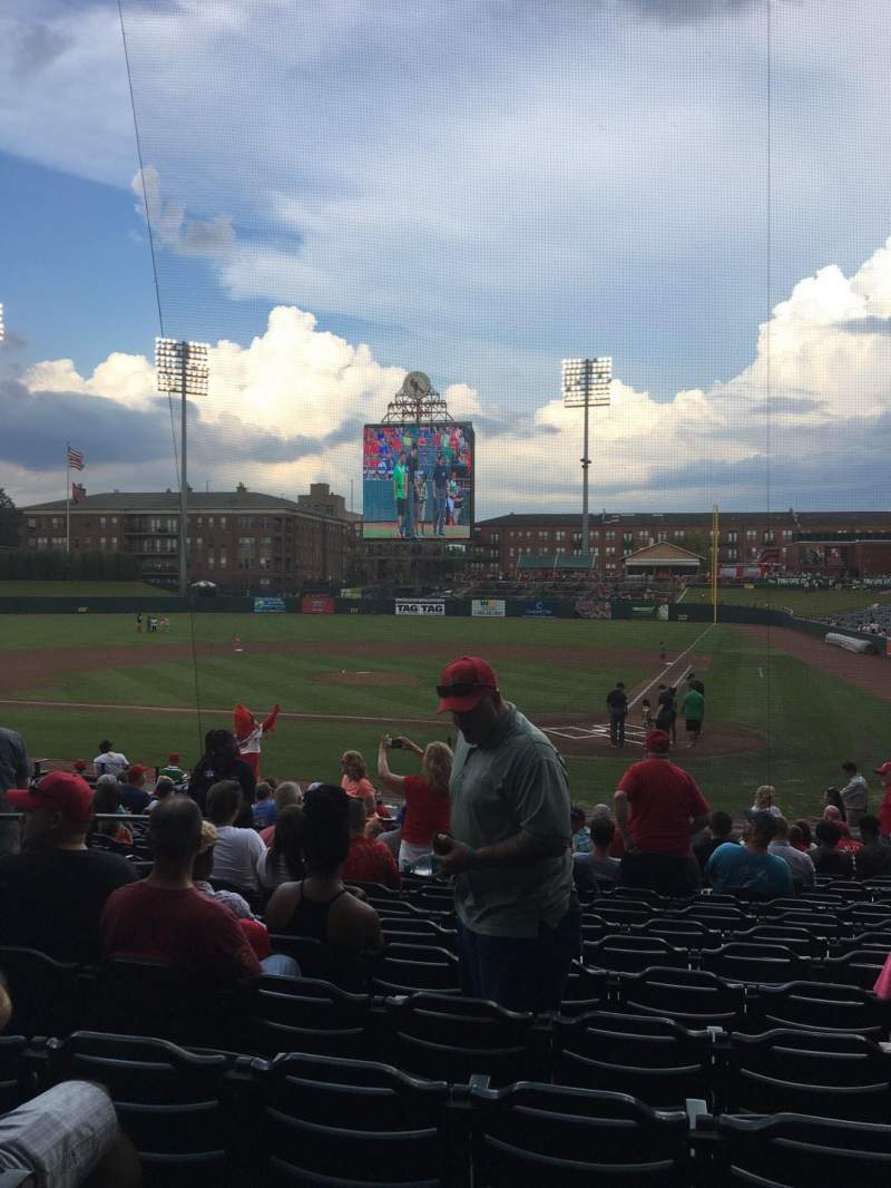 Seating view for AutoZone Park Section 104 Row Q Seat 12