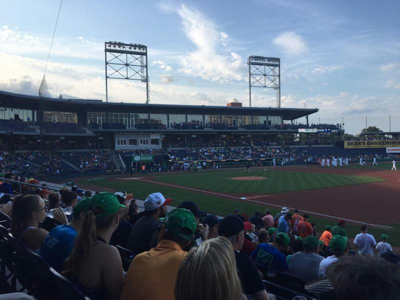 Dunkin' Donuts Park, section: 104, row: N, seat: 1