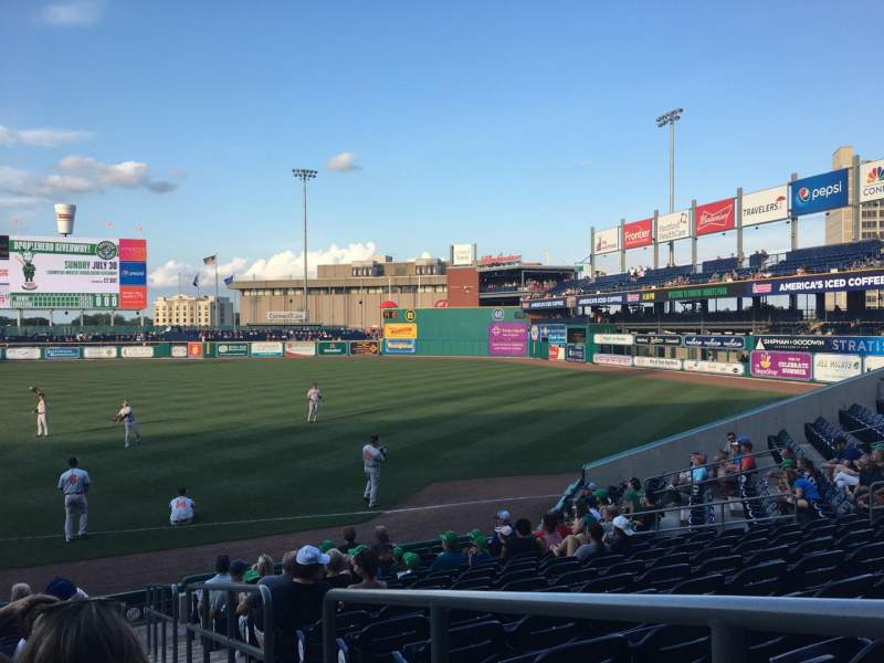 Seating view for Dunkin' Donuts Park Section 104 Row N Seat 1