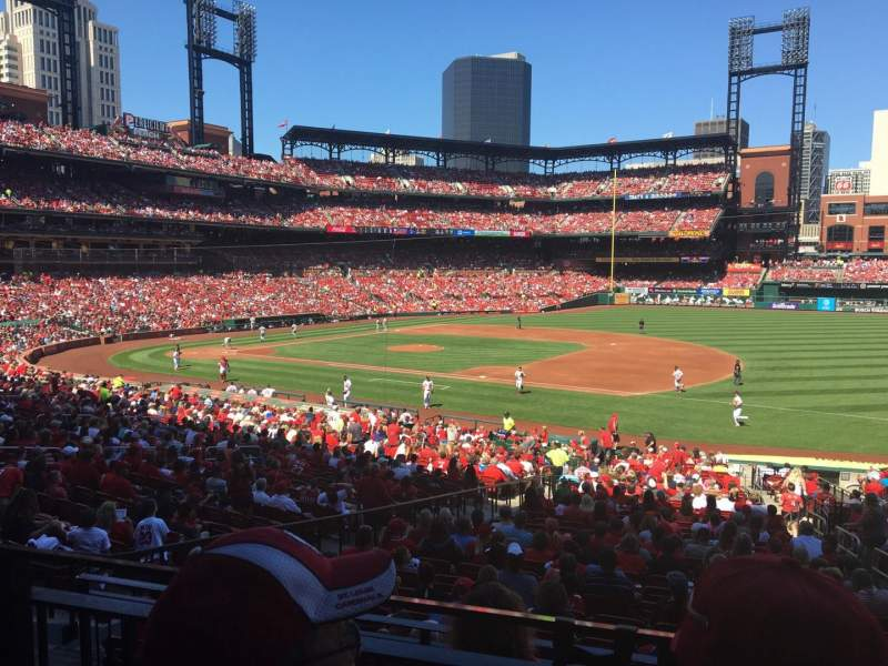 Seating view for Busch Stadium Section 140 Row 21 Seat 12