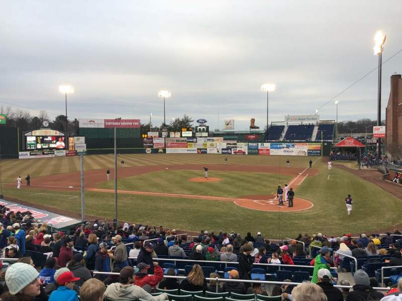 Seating view for Hadlock Field Section 208 Row J Seat 12