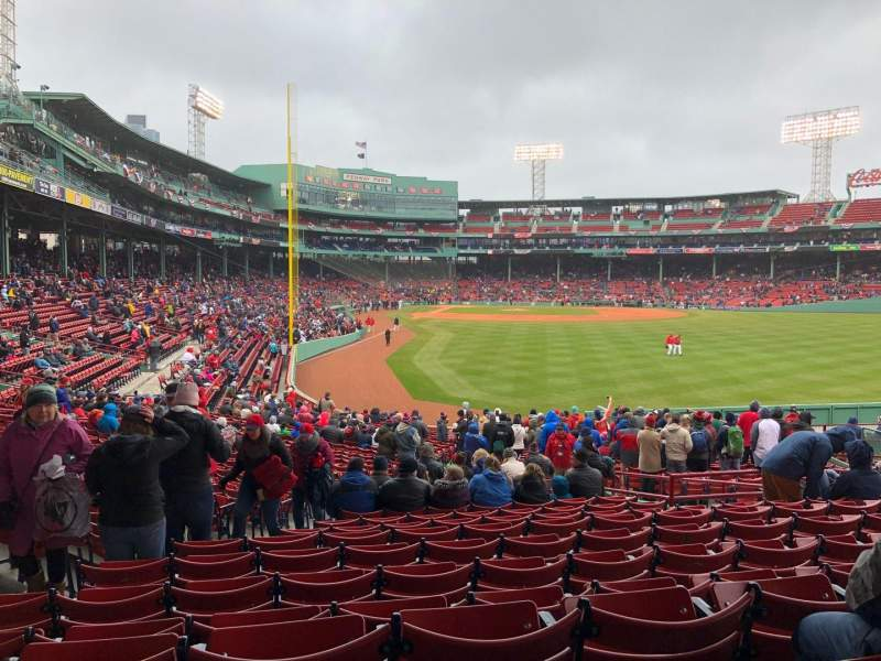 Fenway Park, section: Grandstand 2, row: 1, seat: 13