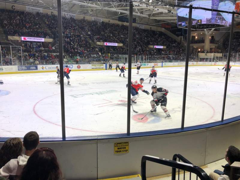 Seating view for Cross Insurance Arena Section Aa Row 4 Seat 1