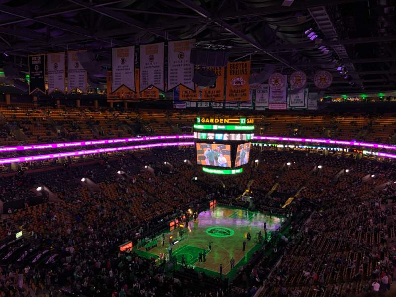 Seating view for TD Garden Section Bal 321 Row 11 Seat 19