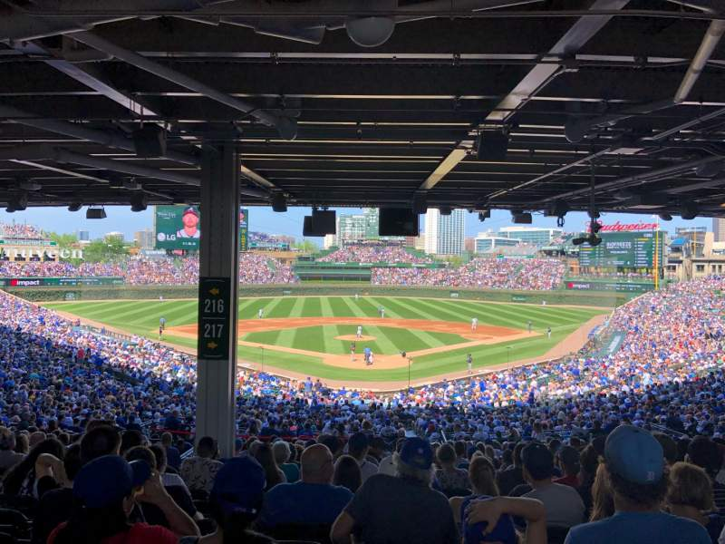 Seating view for Wrigley Field Section 217 Row 18 Seat 7