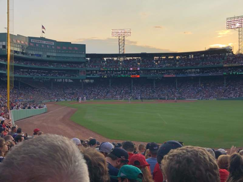 Seating view for Fenway Park Section Right Field Box 89 Row Ee Seat 9