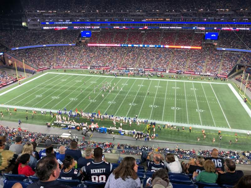 Seating view for Gillette Stadium Section 329 Row 6 Seat 13