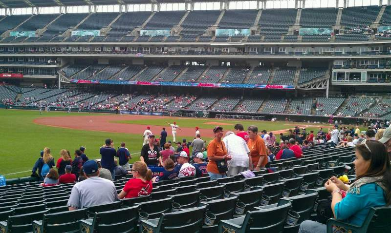 Seating view for Progressive Field Section 174 Row R Seat 3
