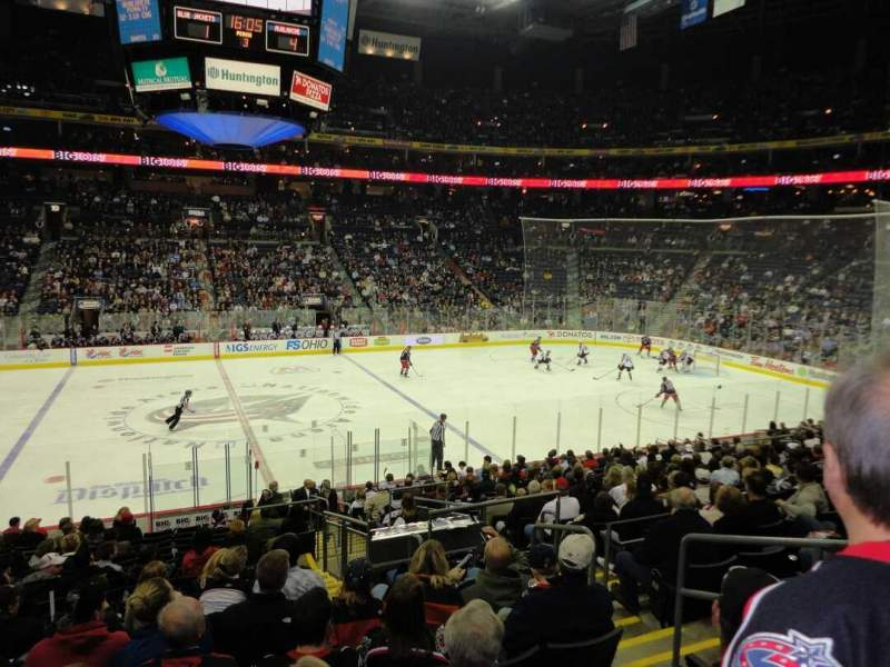 Seating view for Nationwide Arena Section 115 Row S Seat 8