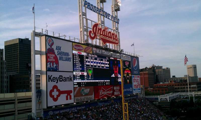Seating view for Progressive Field Section 476 Row C Seat 4