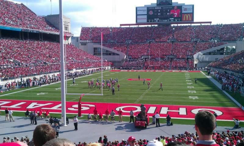 Ohio Stadium, section: 3A, row: 10, seat: 18
