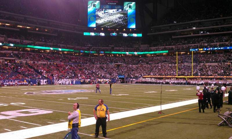 Seating view for Lucas Oil Stadium Section 143 Row 1 Seat 11