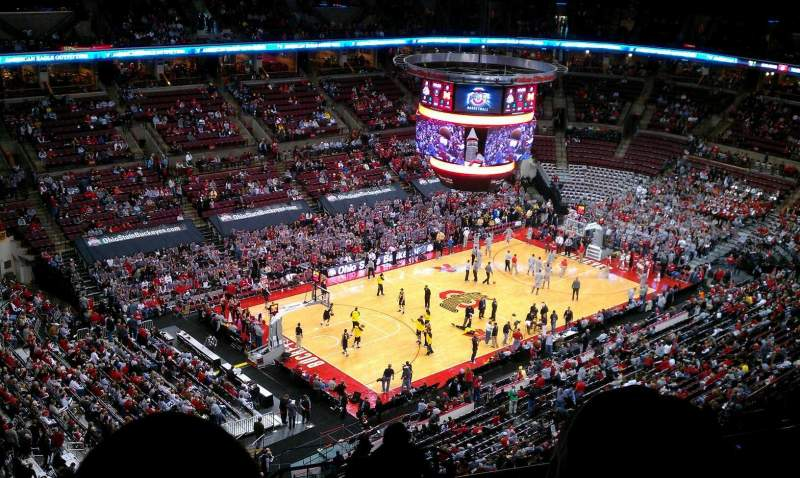 Seating view for Value City Arena Section 327 Row S Seat 4