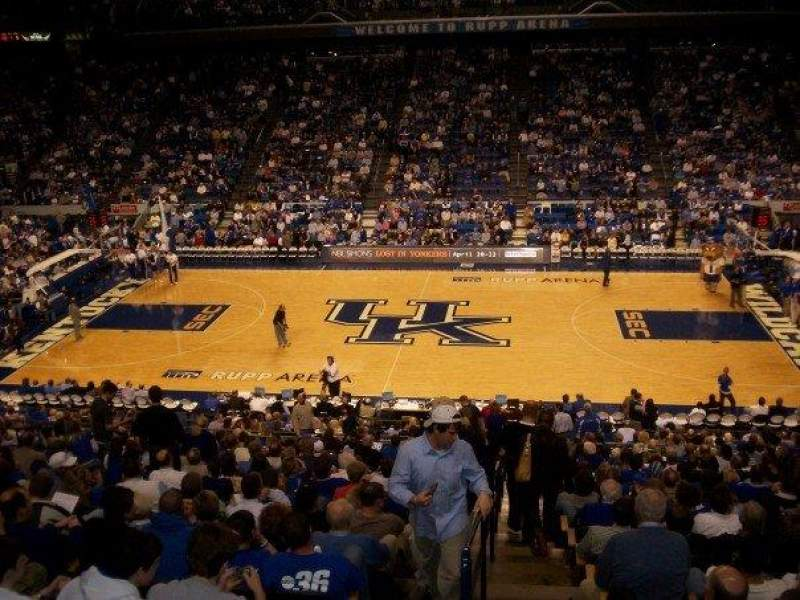 Seating view for Rupp Arena Section 14 Row Y Seat 1