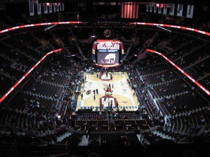 Seating view for Quicken Loans Arena Section 200 Row 15 Seat 1
