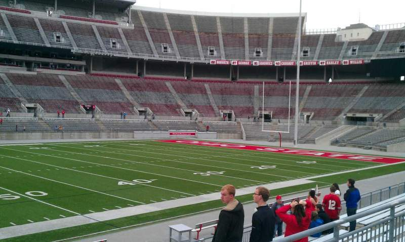Seating view for Ohio Stadium Section 22A Row 1 Seat 24
