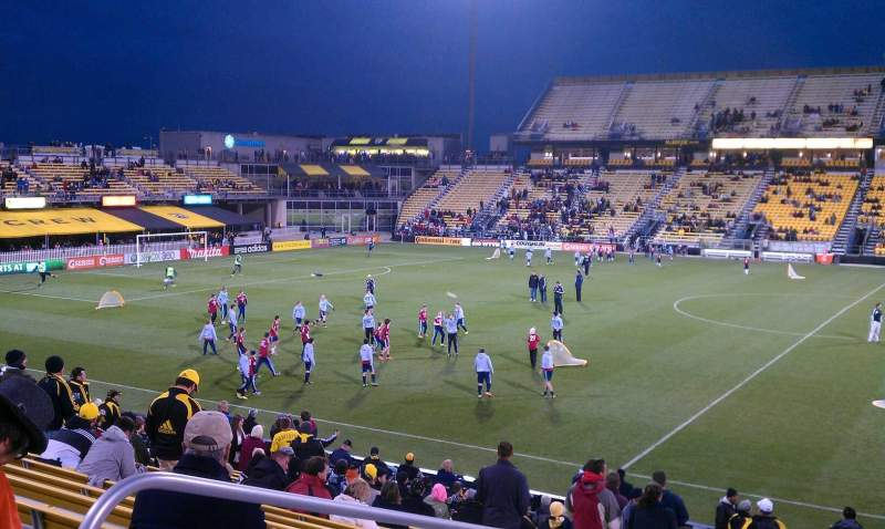 Seating view for Mapfre Stadium Section 105 Row 19 Seat 18