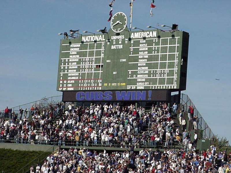 Seating view for Wrigley Field Section 135