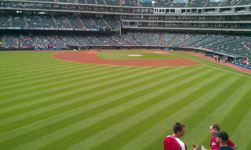 Seating view for Progressive Field Section 182 Row G Seat 4