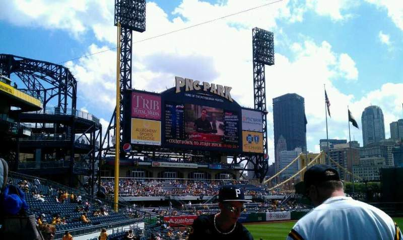 Seating view for PNC Park Section 127 Row H Seat 5