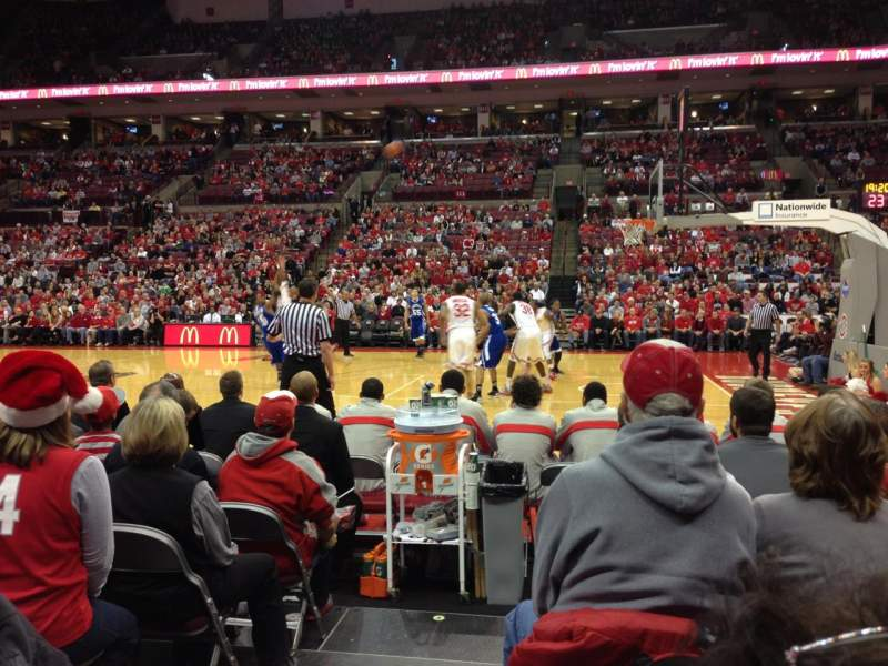 Seating view for Value City Arena Section 104 Row E Seat 21