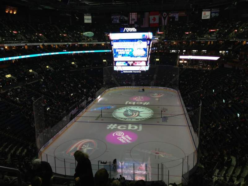 Seating view for Nationwide Arena Section 223 Row G Seat 16
