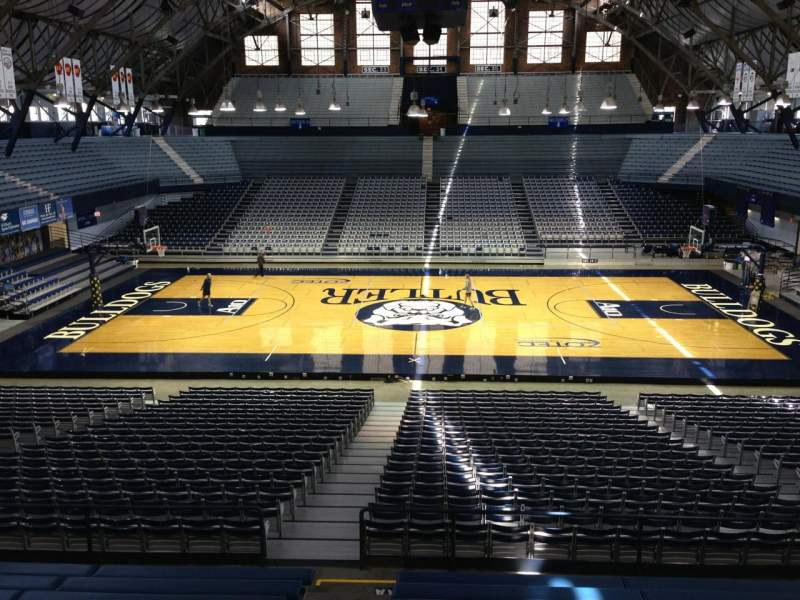Seating view for Hinkle Fieldhouse Section 21 Row KK Seat 37