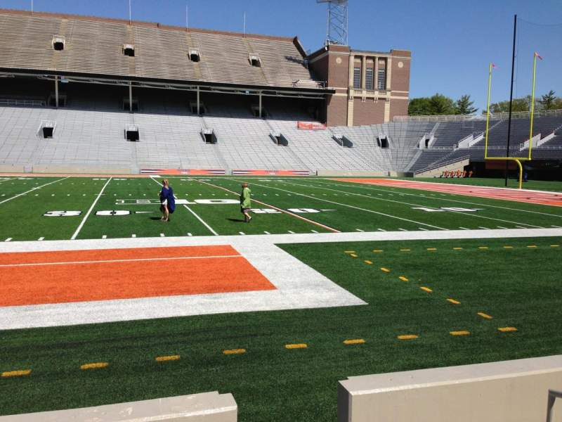 Seating view for Memorial Stadium (Champaign) Section 126 Row 6 Seat 2