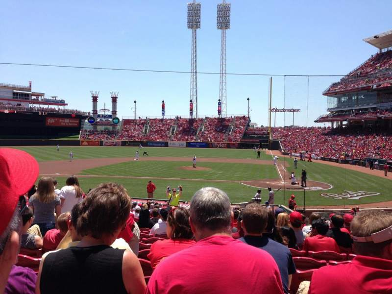 Seating view for Great American Ball Park Section 119 Row AA Seat 8