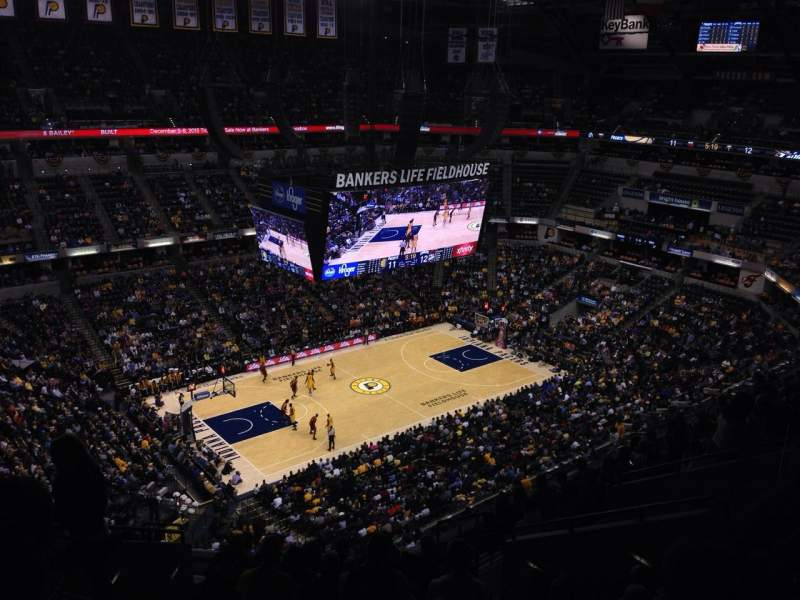 Seating view for Bankers Life Fieldhouse Section 227 Row 12 Seat 17