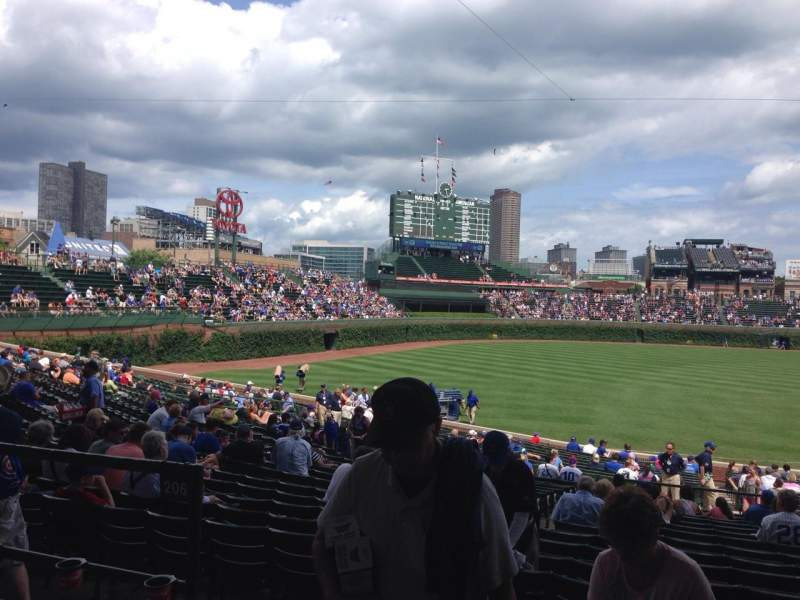 Seating view for Wrigley Field Section 206 Row 3 Seat 1