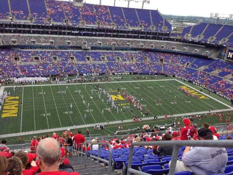 Seating view for M&T Bank Stadium Section 503 Row 24 Seat 1