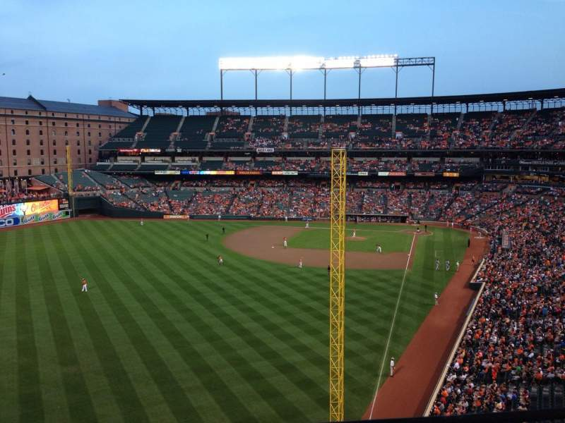 Seating view for Oriole Park at Camden Yards Section 378 Row 1 Seat 18