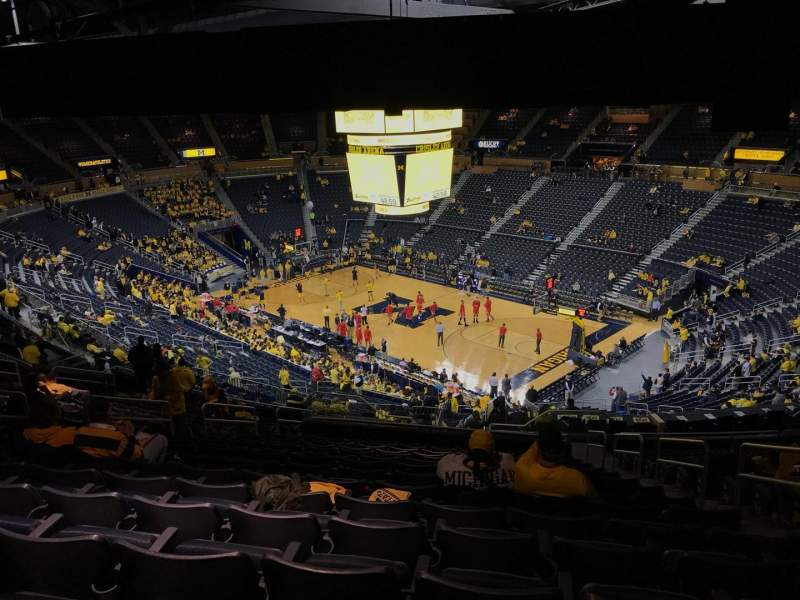 Seating view for Crisler Center Section 219 Row 40 Seat 3