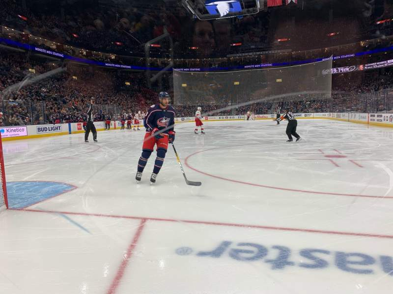Seating view for Nationwide Arena Section 119 Row A Seat 10