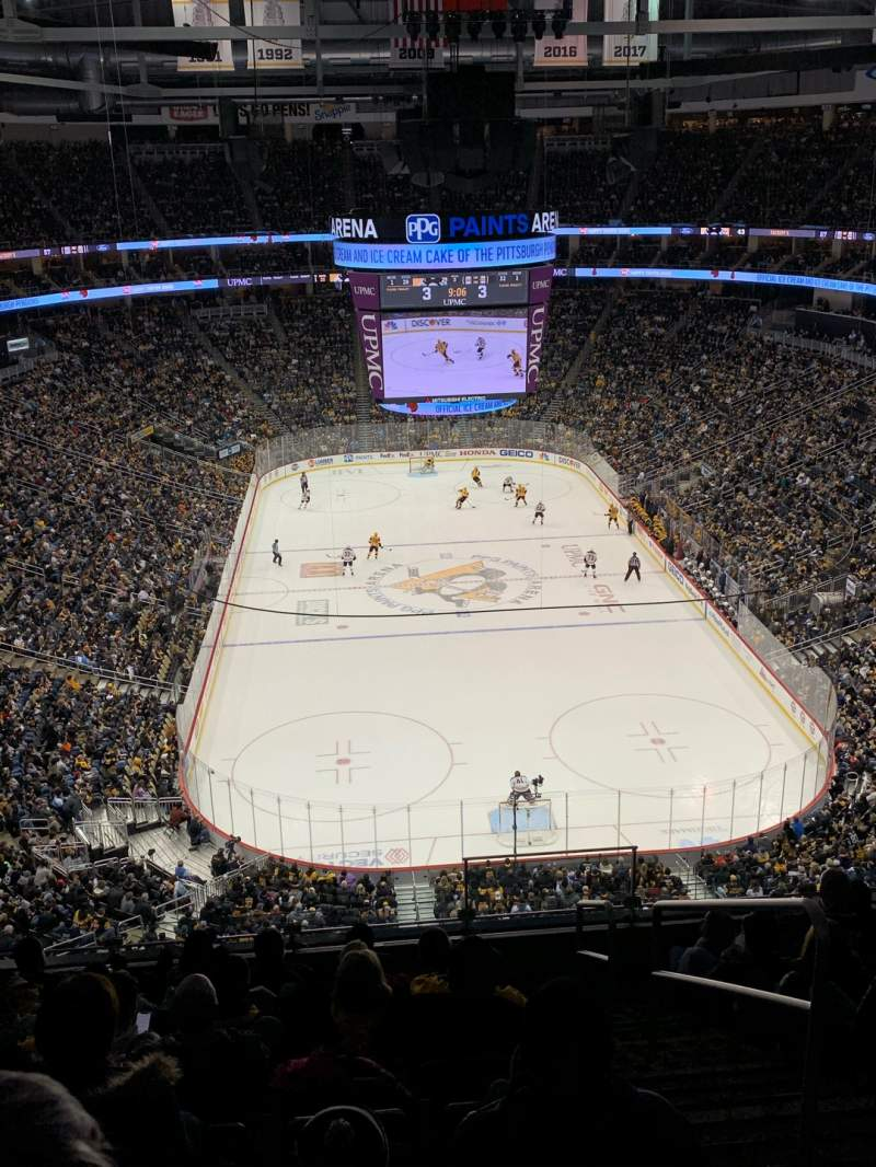 Seating view for PPG Paints Arena Section 212 Row J Seat 2